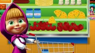 Мультики,Маша готовит пиццу