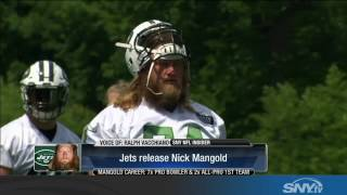 The New York Jets release center Nick Mangold