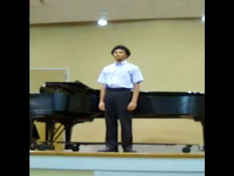 Isaiah Price sings @ Settlement Germantown recital 2010.wmv