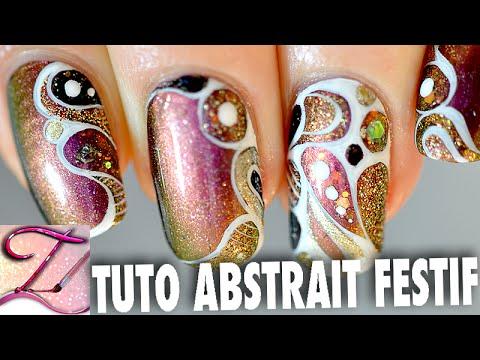 Tuto Nail Art Abstrait De Ftes Facile Et Personnalisable Youtube