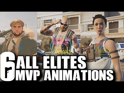 Rainbow Six Siege All Elite MVP Animations - Including Leaked Bandit Skins