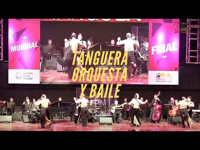 Tanguera, Show de tango baile, tango danza grupal con orquesta de tango de G Mores  Mundial 2018