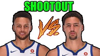 Stephen Curry vs. Klay Thompson - Who Can Make More 3 Pointers in One Minute? (2K18)