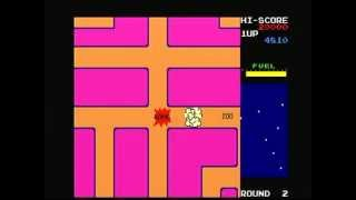 Namco Museum Vol. 1 New Rally-x (Playstation) Game Play