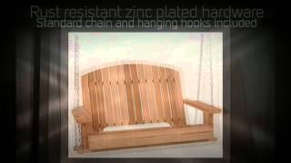 All Things Cedar Pergola 4ft. Red Cedar Porch Swing - Ps50u