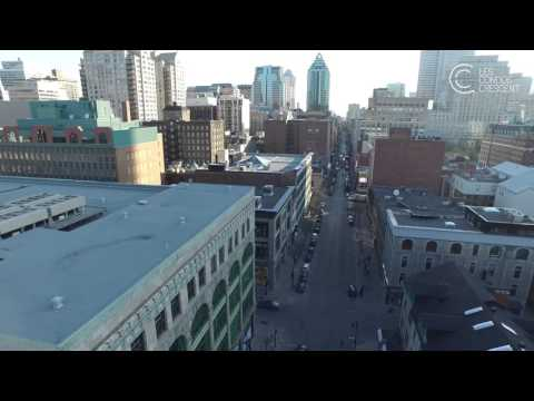 Les Condos Crescent - New Downtown Montreal Commercial Space - St. Catherine Street Retail Node
