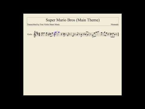 Super Mario Bros (Main Theme) Violin Sheet Music