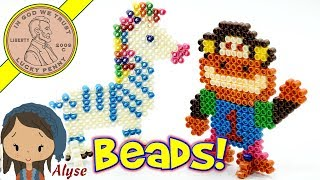Super Beads 3D Jungle Animal Kids Crafting Set - Fuse With Water - No Hot Iron!