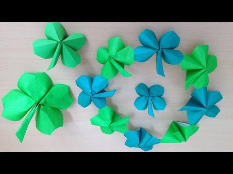折り紙の 折り紙 クローバー 折り方 : xn--u9jvc384sqfwv3f.com