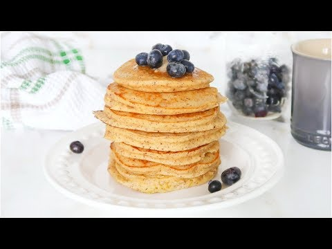 The BEST Healthy Pancakes | fluffy paleo pancakes