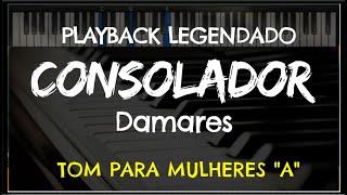 """🎤 Consolador (PLAYBACK LEGENDADO no Piano – TOM FEMININO A"""") Damares, by Niel Nascimento"""