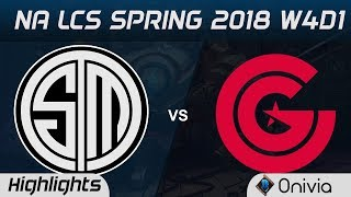 TSM vs CG Highlights NA LCS Spring 2018 W4D1 Team Solo Mid vs Clutch Gaming by Onivia