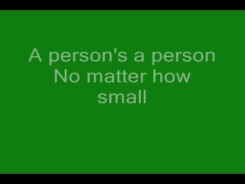 750028bbed89 Horton Hears a Who Lyrics - YouTube