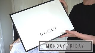 GUCCI UNBOXING | Monday-Friday VLOGS