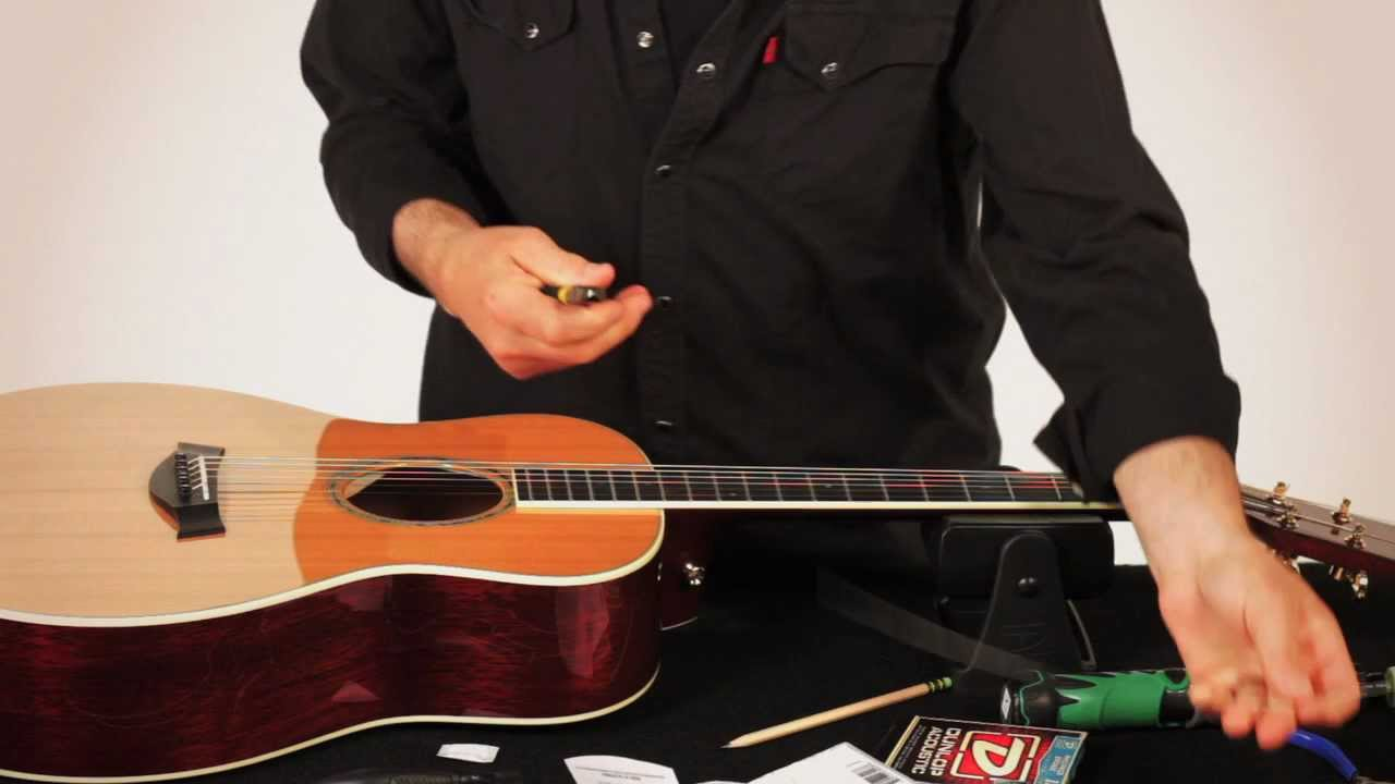 RESTRING: WITH GARY WER - ACOUSTIC GUITAR - YouTube on fender humbucker wiring-diagram, fender jaguar bass wiring diagram, fender esquire wiring-diagram,