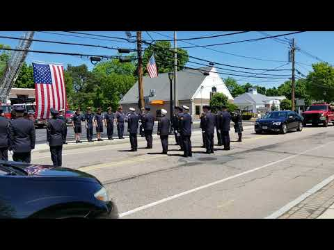 Former Millis Fire Chief Volpicelli Funeral  Procession