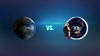 Flache Erde - Globus vs. AstroToni: Runde 1  (oder: Ein Flacherdler geht zu Boden)