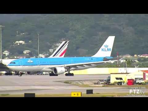 KLM Airbus A330 First Landing in St. Maarten (SXM) 10/30/2016