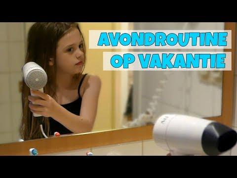 AVONDROUTINE OP VAKANTIE!! - Broer en Zus TV VLOG #172