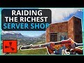 SILENT Raiding The Richest SHOP On The Server!! Rust Solo Survival Gameplay