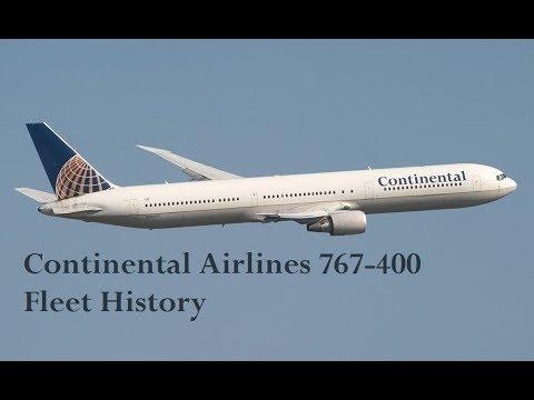 Continental 767-400 Fleet History (2000-2011)