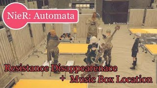 NieR: Automata - Music Box Location and Resistance Disappearance (No Commentary, Japanese Audio)