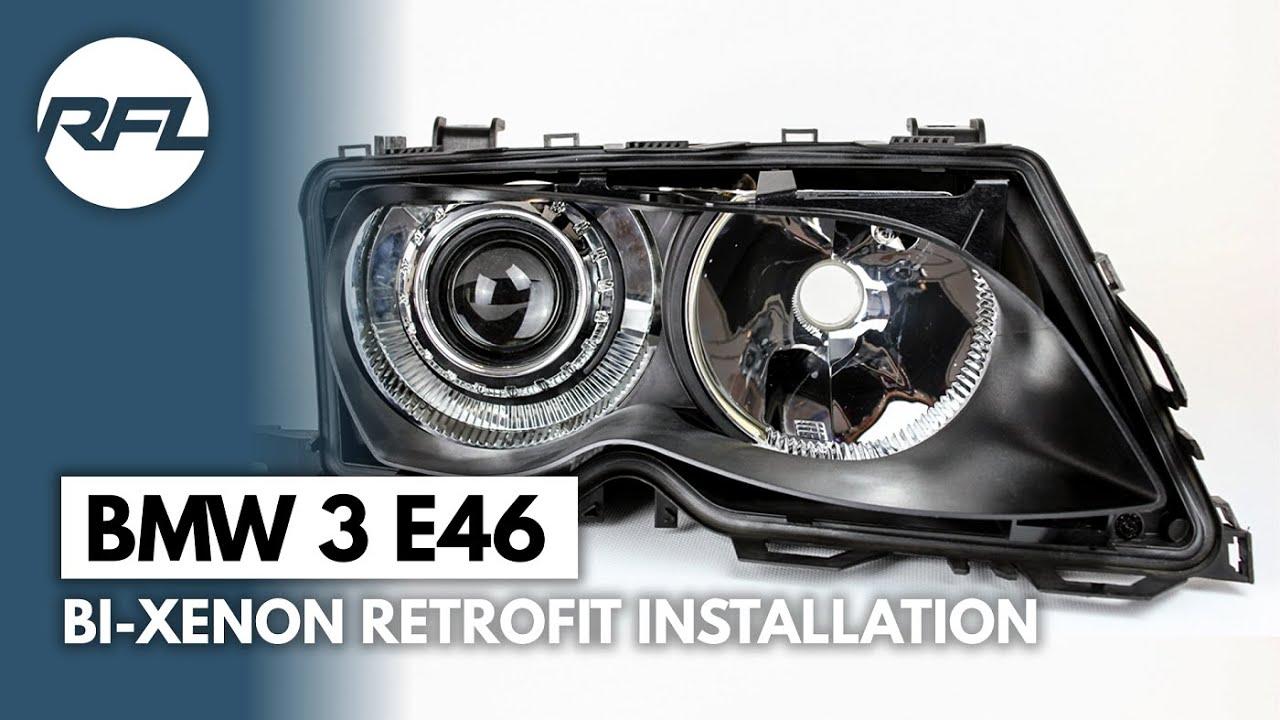 bmw 3 e46 bi xenon projector headlight retrofit kit explained [ 1280 x 720 Pixel ]