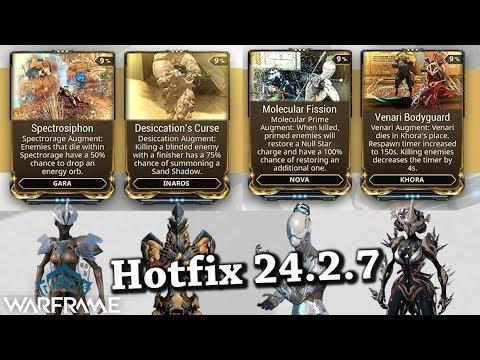 Warframe | 4 New Augment Mods For: Gara, Inaros, Nova, Khora [Hotfix 24.2.7] thumbnail