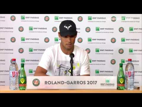 Rafael Nadal Press conference / QF RG 2017