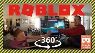 ROBLOX In 360 Degrees! - Fashion Frenzy And Riding A Nyan Cat With G-Daughter And G-Dad | 360 Gaming