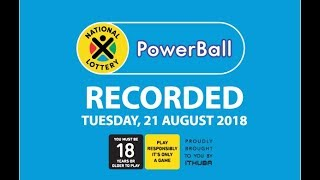 Powerball Results - 21 August 2018