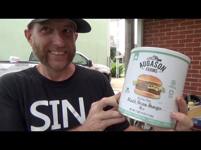 Christian Prepping - Black bean burger mix