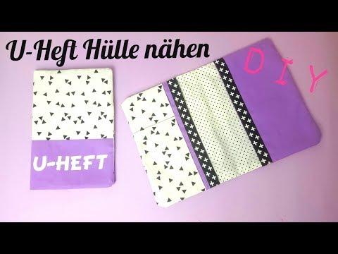 Häufig DIY U-Heft Hülle nähen | DIY Kajuete - YouTube OE06