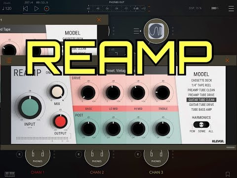 REAMP - AUv3 Audio Gear Modeler by Klevgrand - Demo & Review for the iPad