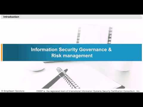 Information Security Governance And Risk Management | CISSP Training Videos