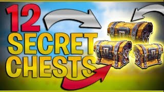 TOP 12 HIDDEN SECRET Chests and Locations (FORTNITE Battle Royale) Tips/Tricks & Easter eggs