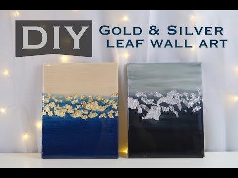 DIY GOLD LEAF CANVAS ART