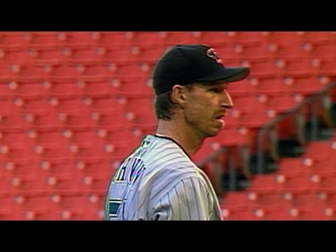 Randy Johnson gets his 3,000th career strikeout