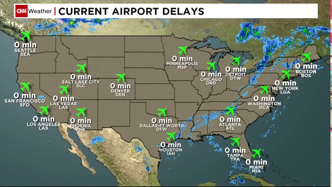 CNN Airport USA Weather YouTube - Airport weather map usa