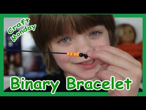 Craft Monday - How to make Binary Code Bracelet - Day 612 | ActOutGames