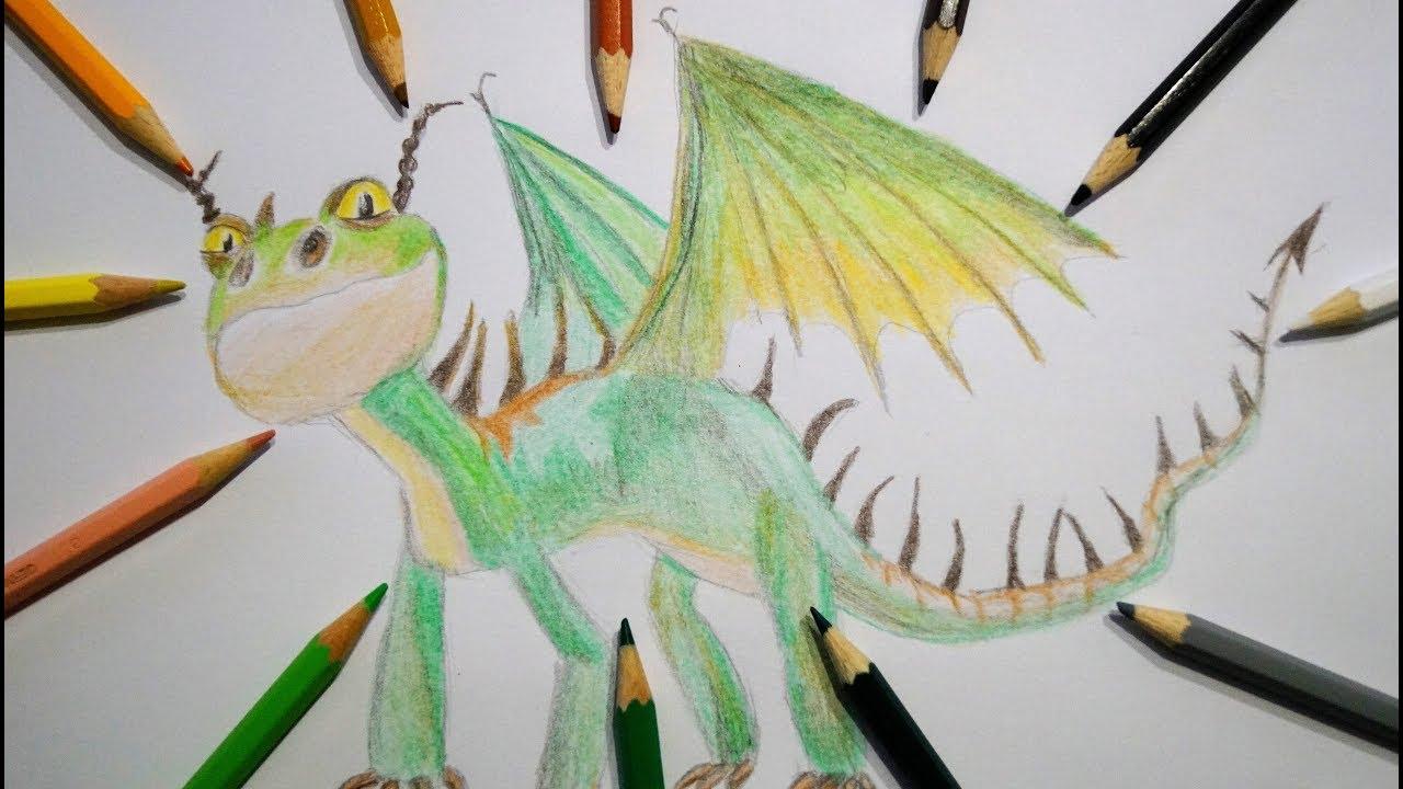 drachen zeichnen f r kinder schrecken malen how to draw dragon for children. Black Bedroom Furniture Sets. Home Design Ideas