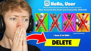Deleting My Friend's Fortnite Account & Surprising Him With A New One
