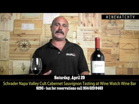 Schrader Napa Valley Cult Cabernet Sauvignon Tasting at Wine Watch Wine Bar - click image for video
