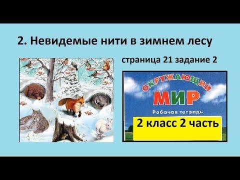 Схема/Невидимые нити в зимнем лесу №2 (Окр.мир 2 класс Перспектива)