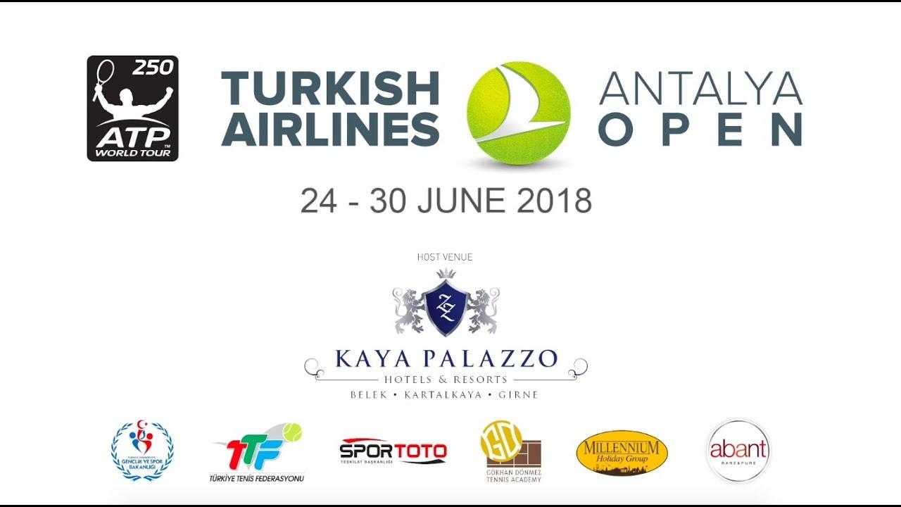 ATP Turkish Airlines Antalya Open Kaya Palazzo Resort Belek'te