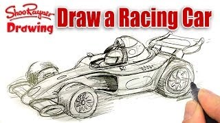 How to draw a Formula One Race Car - spoken tutorial