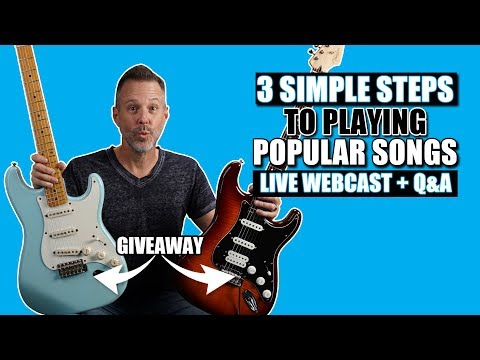 3 Simple Steps to Playing Popular Songs Without Sheet Music or Tablature (2 Strat Giveaway)