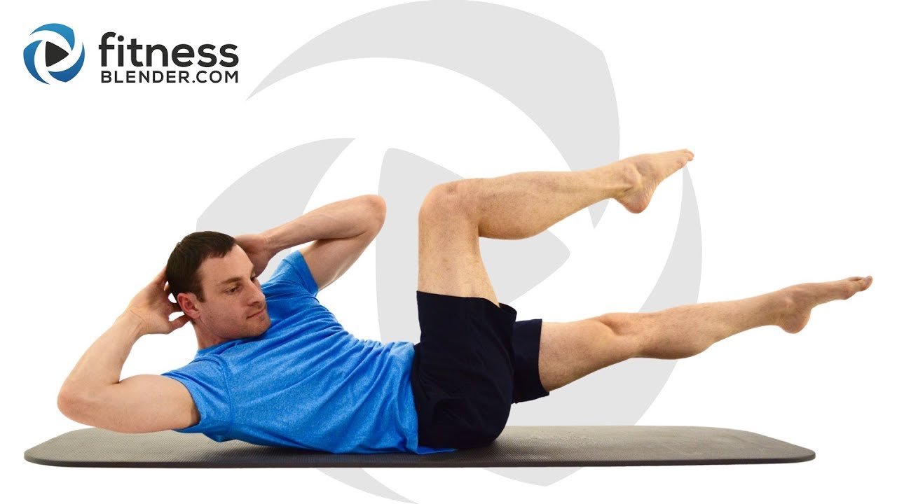Fitness Blender 15 Minute Abs Workout At Home Core Training Without Equipment Youtube