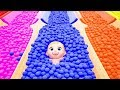 Baby cartoon for kids #z ZOZO fun play with soccer ball slide & surprise toys for children