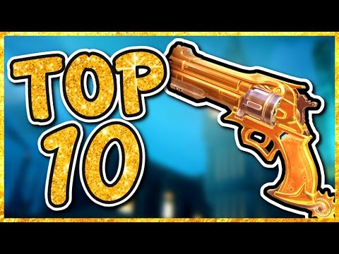Overwatch - TOP 10 BEST GOLD GUNS IN OVERWATCH